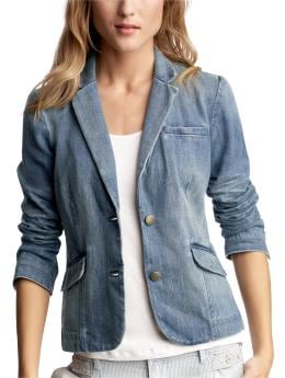 Women's Clothing: Women's Clothing: Faded denim blazer: Blazers Outerwear | Gap