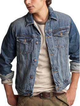 Well-worn denim jacket from gap.com