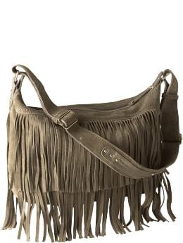 Women's Clothing: Women's Clothing: Suede fringe hobo: Handbags | Gap from gap.com