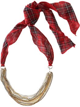 Women's Clothing: Women's Clothing: Plaid chain necklace: Accessories New Arrivals | Gap :  necklace accessory silver womens