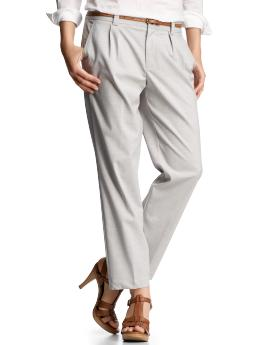 Women's Clothing: Women's Clothing: Pleated cropped pants: Get Dressed | Gap from gap.com