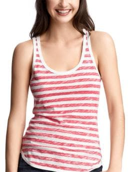 Women's Clothing: Women's Clothing: Printed slub tank: Tanks & Camis Ts & Camis | Gap :  womens purple sleeveless multicolor