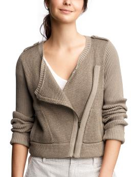 Women's Clothing: Women's Clothing: Moto sweater: Cardigans Sweaters | Gap :  spring womens sweater asymmetrical