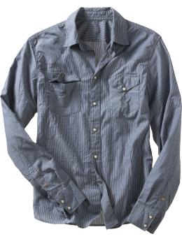 Pinstriped western shirt :  pinstriped shirt button down shirt shirt western shirt