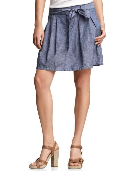 Gap Pleated chambray skirt