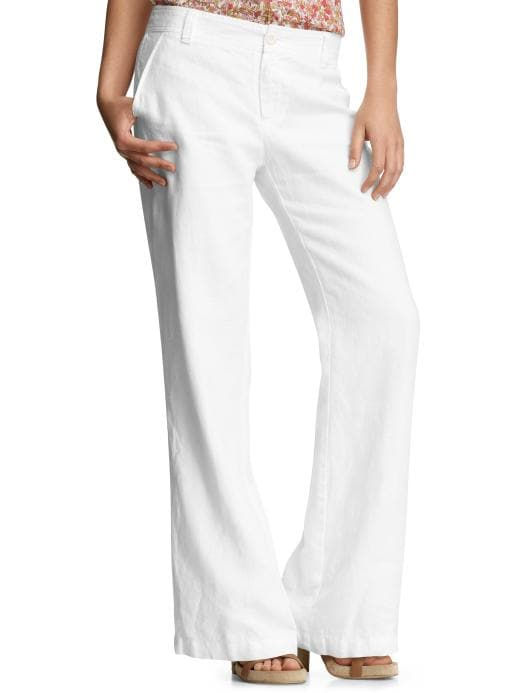 Gap White Linen Pants