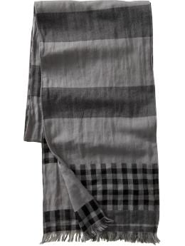 Jacquard striped scarf :  mens scarf scarf striped scarf