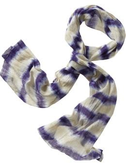 Women's Clothing: Women's Clothing: Lightweight tie-dye scarf: Scarves Hats, Scarves, Belts | Gap :  tie dye scarf