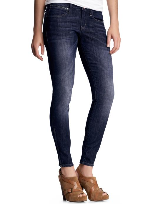 Gap Always skinny zipper jeans (dark wash)