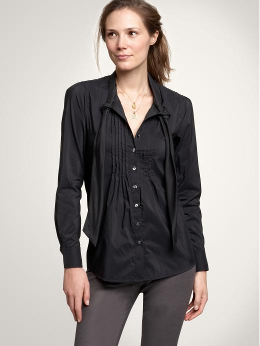 Gap Tie-neck Blouse Womens Long-sleeved Shirts Size 0 2 4 6 8 10 12 14 16 18 20