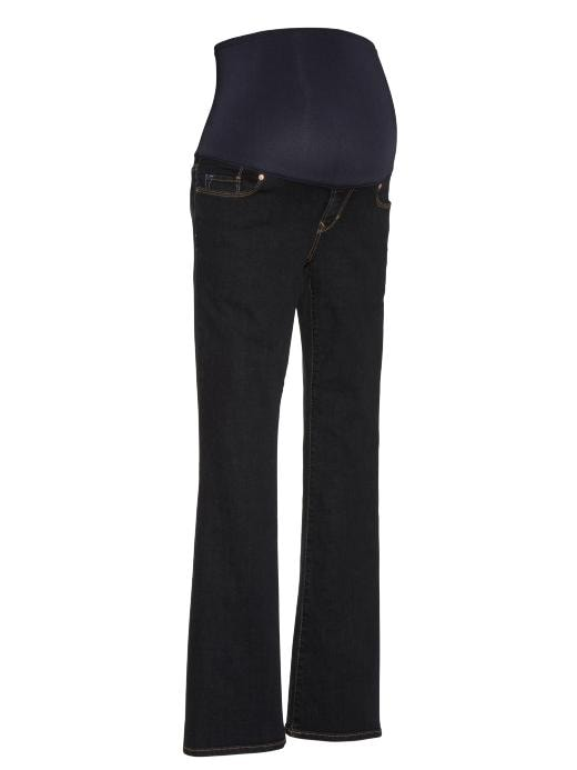 Gap Womens Maternity Full Panel Boot Cut Jeans Dark Wash