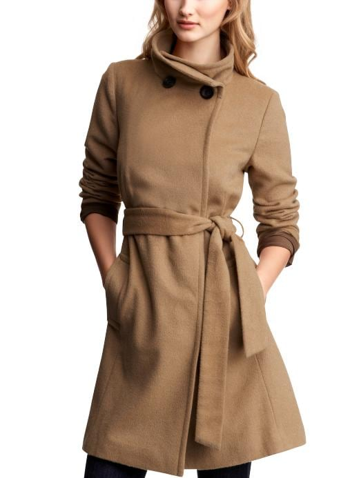 GAP - Wool Blend Funnel Neck Coat :  winter coat wool coat gap gap wool bland funnel neck coat