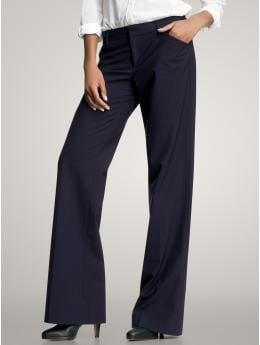Perfect trouser pants (navy pinstriped) | Gap :  blue straight leg spandex viscose