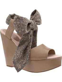Design Editions floral bow wedge sandals | Gap from gap.com