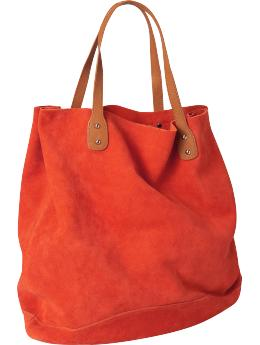 Suede tote | Gap :  handbag bag fall brown