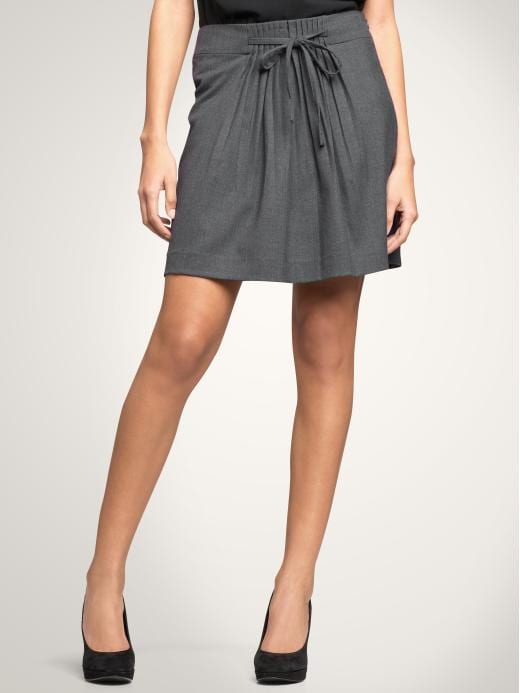 GAP - Pleated Tie Skirt :  pleated skirt gossip girl pleated office
