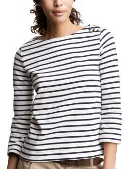 Striped boatneck T | Gap :  striped gap boat neck cotton
