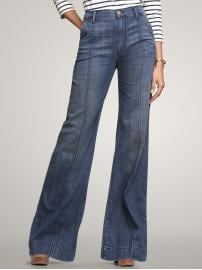 Gap High rise pintuck trouser jeans