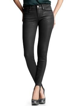 Stirrup legging jeans (coated black wash) | Gap