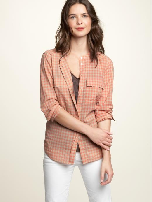 Gap Womens Gingham Pocket Long-sleeved Shirts Size 0 2 4 6 8 10 12 14 16 18 20