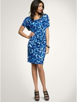 Gap Impressionist print draped dress