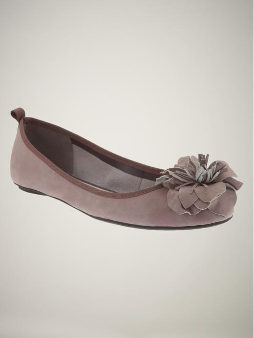 Gap Appliqué flower ballet flats