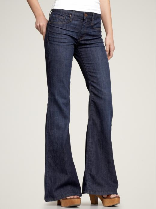Gap High rise flare jeans (faded dark wash)
