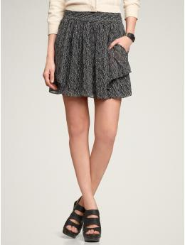 Gap Print flutter skirt