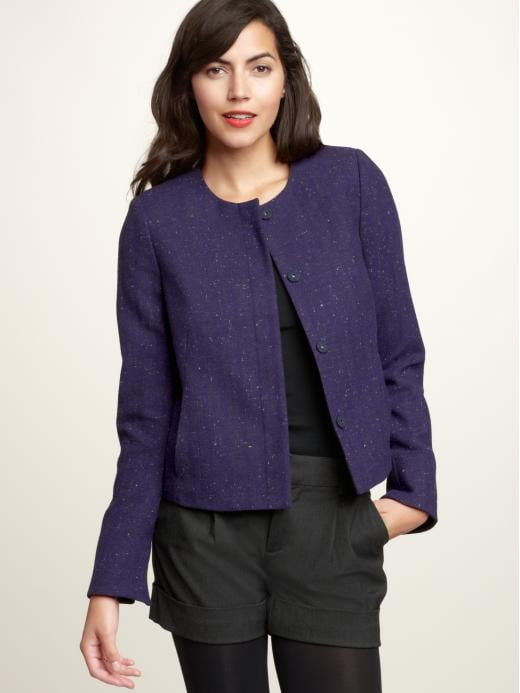 Gap Herringbone Collarless Jacket