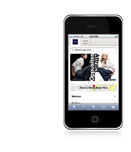 gap mobile. shop on your iphone or android phone - wherever you are. check out new arrivals. read customer reviews. shop gap, banana republic, old navy, piperlime and athleta. find a store new your. bookmakrd m.gap.com and shop on the go - it's easy!