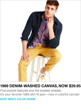shop men's color denim