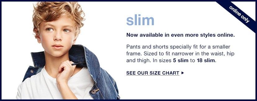 Slim: See Our Size Chart