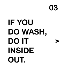If you do wash