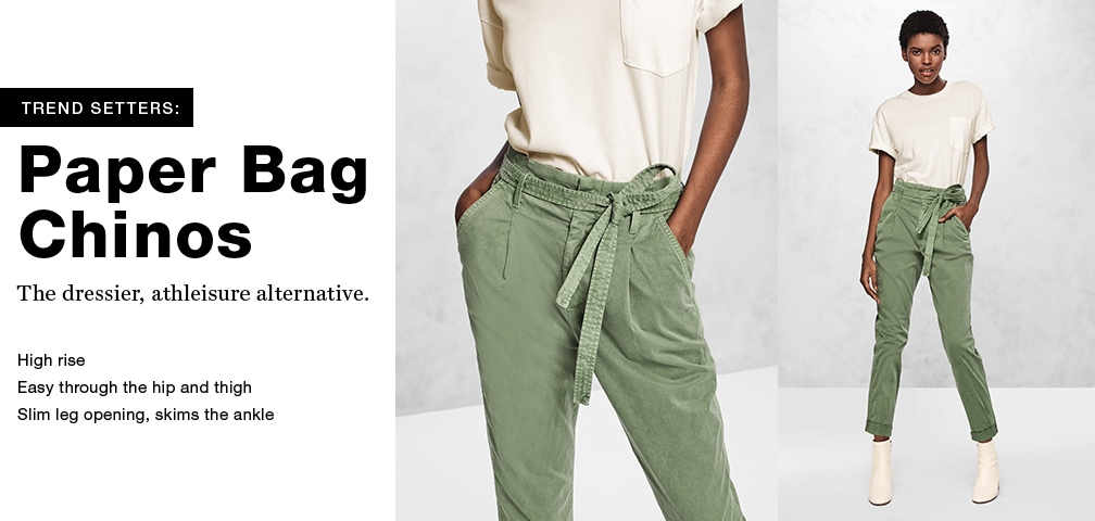 shop paper bag chinos