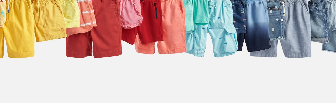 Shorts Shop. All the fits they need. In every color they love.