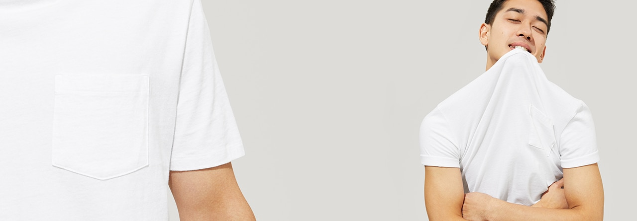 Pocket T. The forever classic - back from the archives. Soft, easy, garment-dyed just right.
