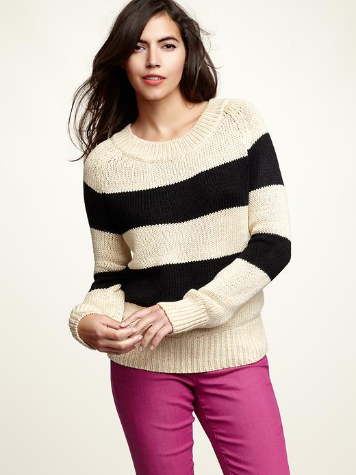 Gap Wide Stripe Boatneck Sweater