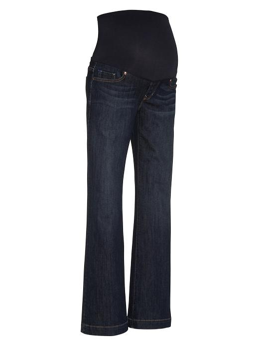 Gap Womens Maternity Full Panel Long & Lean Jeans Dark Wash
