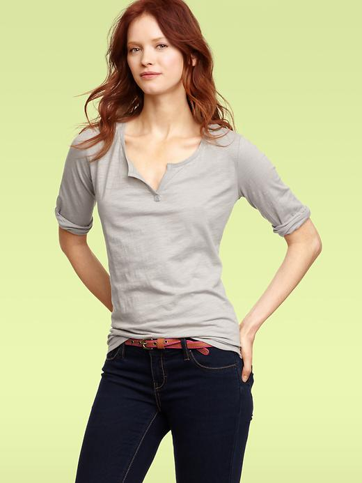 Gap Half Sleeve Split T Shirt