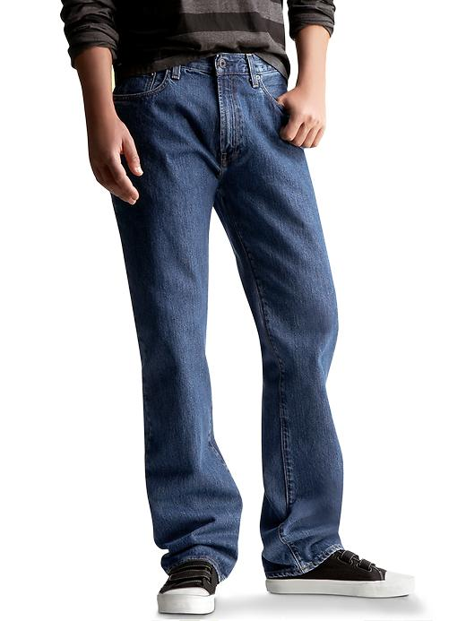 Gap Mens Dark Stonewashed Easy Fit Jeans