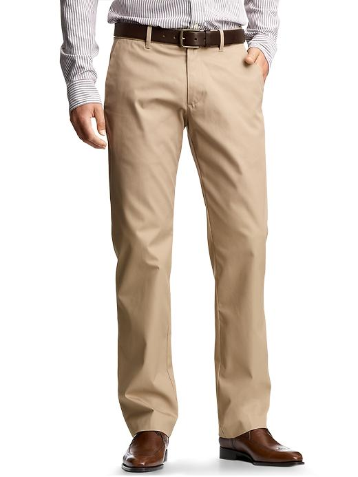 Gap Mens The Tailored Khaki Straight Fit Pants