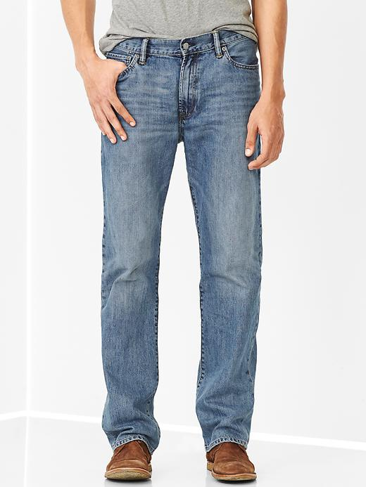 Gap Mens Standard Fit Jeans Pale Blue Wash