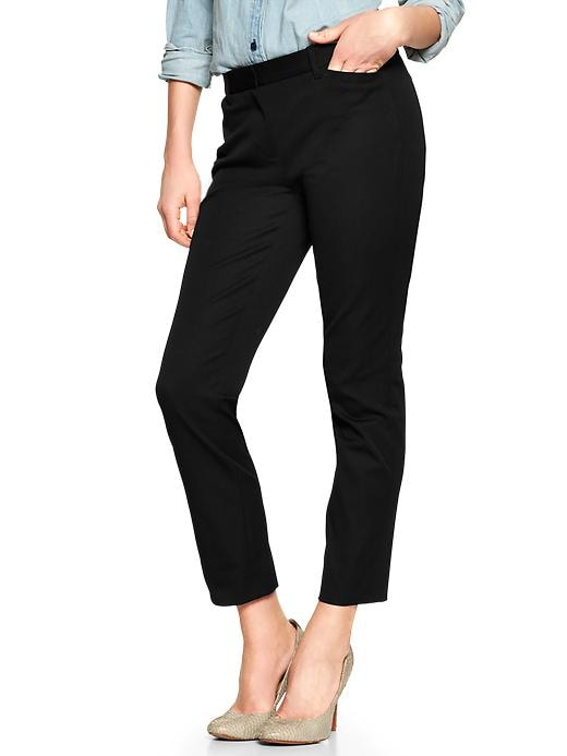 Gap Womens Petite Slim Cropped Pants - true black