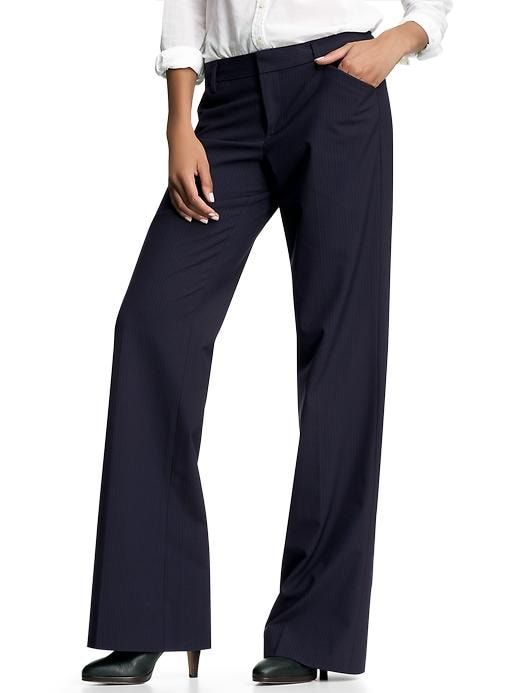 Gap Womens Perfect Trouser Pants Pinstriped