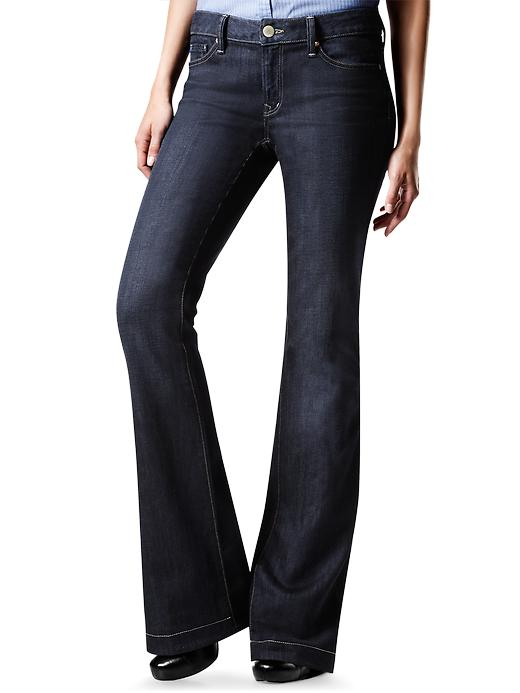 Gap Petite Womens Dark Long & Lean Jeans Dark Wash