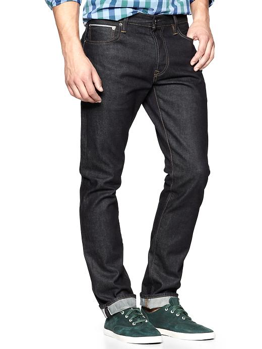 Gap 1969 Selvage Authentic Skinny Fit Jeans Resin Rinse $ 89.95