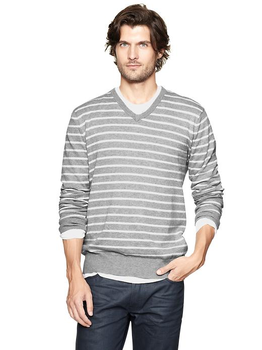 Gap Striped V Neck Sweater $ 35.99