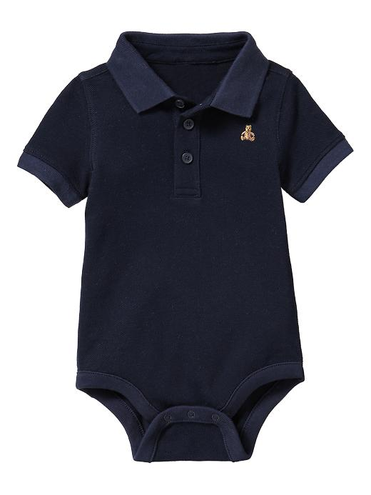 Gap Pique Polo Bodysuit - blue galaxy