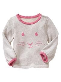 Intarsia rabbit sweater