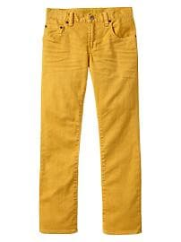 Yellow straight jeans